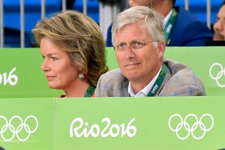 Van Snick werd aangemoedigd door het koningspaar. Beeld Photo News