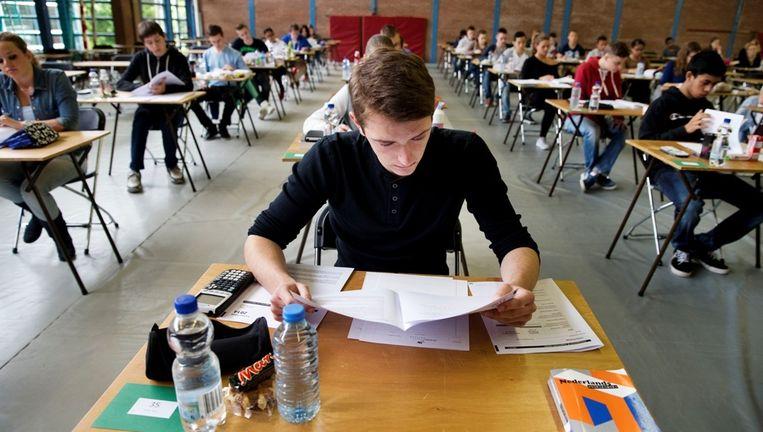 Voor veel eindexamenleerlingen breekt vandaag de vakantie aan. Beeld ANP