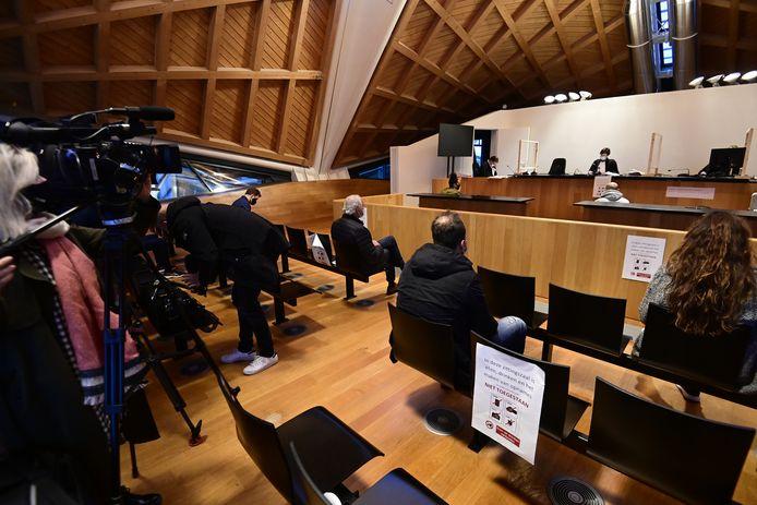Le tribunal de police d'Anvers, ce lundi 11 janvier.
