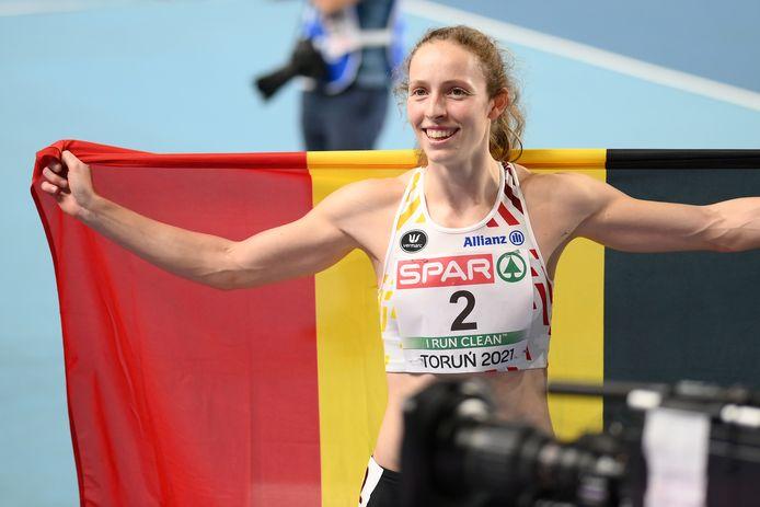 Noor Vidts was dolgelukkig met haar tweede plaats op de vijfkamp.