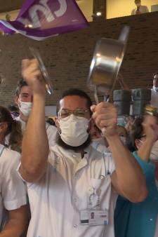 Honderden medewerkers maken kabaal in Radboudumc: 'Het is vijf over twaalf'