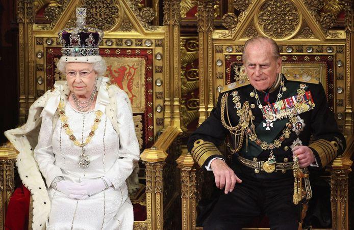 Elizabeth II et son époux en 2012