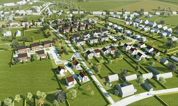Toekomstbeeld Imwo Invest van de verkaveling in Gavere.