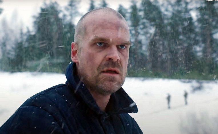 Acteur David Harbour als Jim Hopper in Stranger Things, seizoen 4. Beeld Netflix