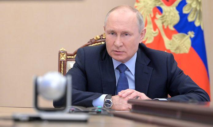De Russisch president Vladimir Poetin vandaag.