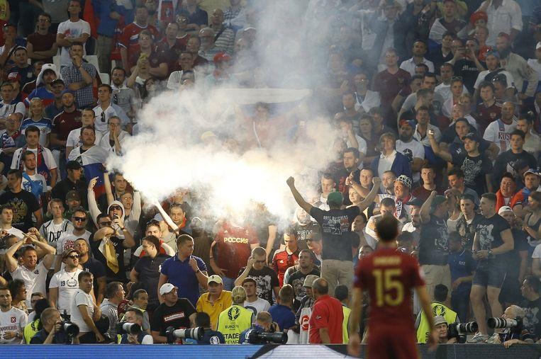 Marseille, zaterdag 11 juni: Engeland - Rusland. Beeld AP