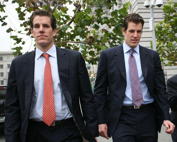 Archieffoto van januari 2011: Cameron (links) en Tyler Winklevoss.