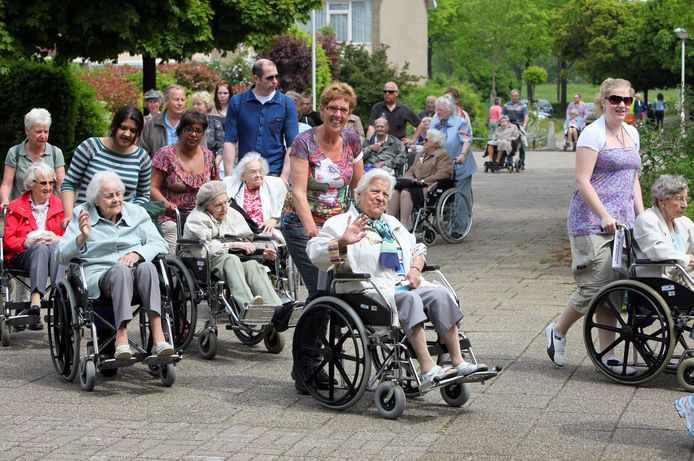 Een eerdere editie van de rolstoelvierdaagse in Zoetermeer.