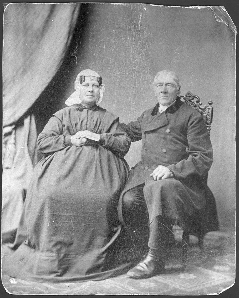 Gerrit en Geertje Broerse, omstreeks 1870.  Beeld Collectie van de familie Broerse