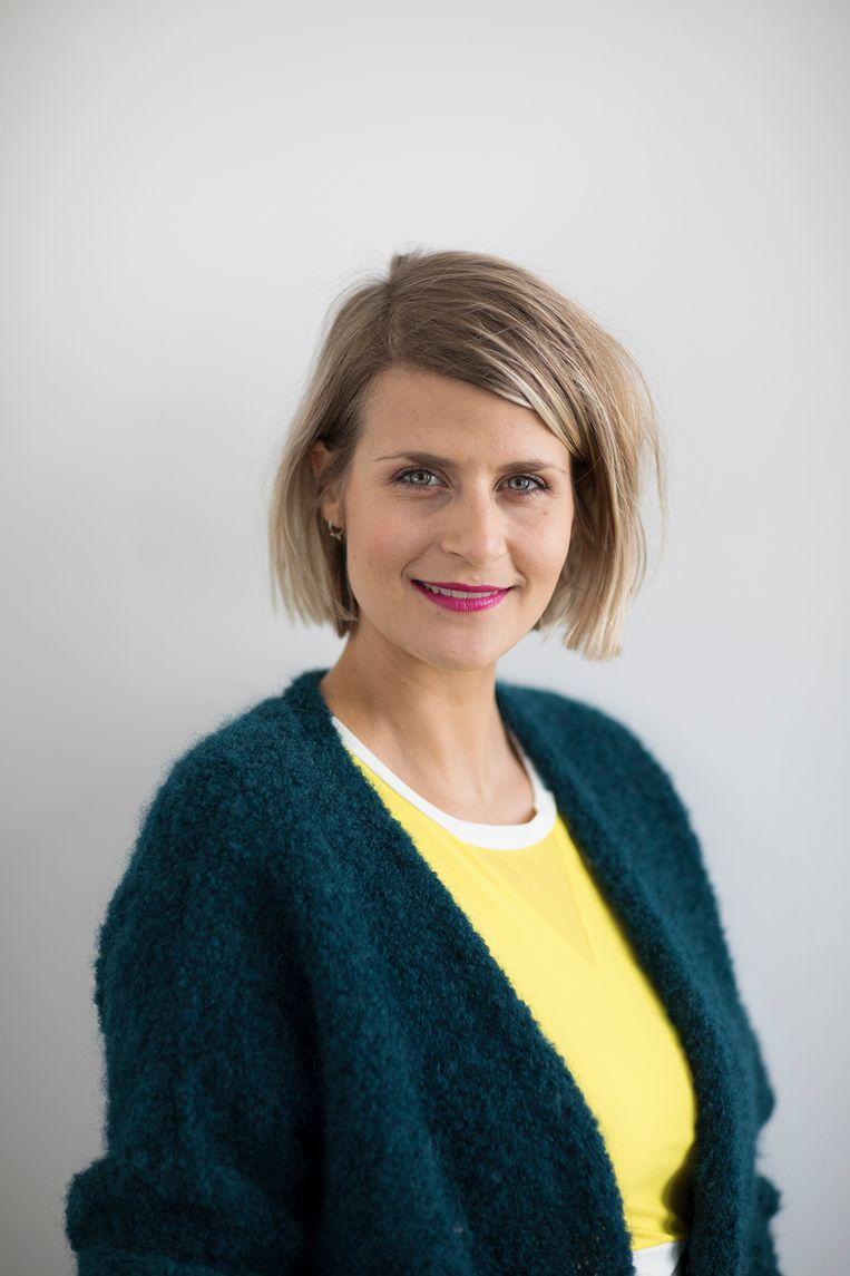 Auteur, lifecoach en voormalig presentatrice Eva Daeleman: 'Hilarisch, je darmen!' Beeld rv