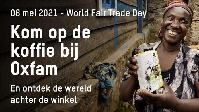 Op World Fair Trade Day kan je een koffie drinken aan de Oxfam Wereldwinkel in Deinze.