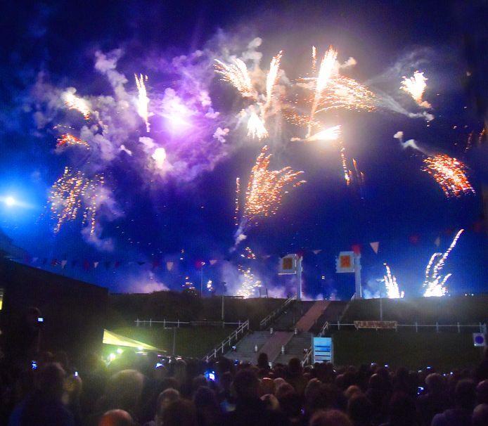 De vuurwerkshow in 2017 in Zoutelande