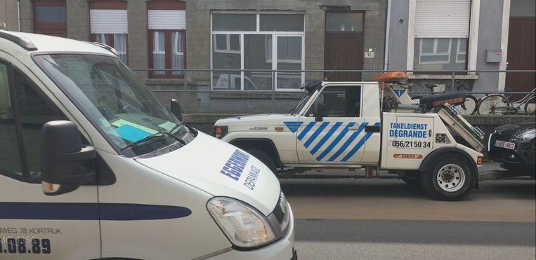 Er werd onder meer in de Magdalenastraat en Marksesteenweg getakeld