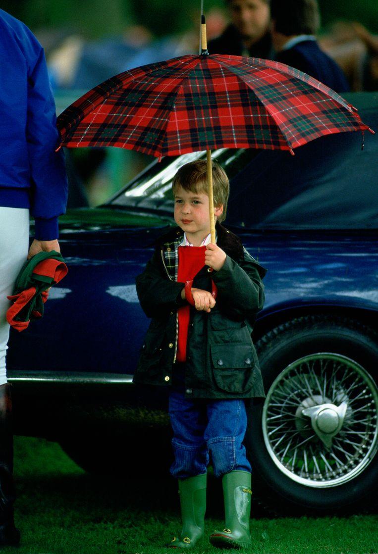 Prince William werd zo'n beetje geboren met regenlaarzen aan. Beeld Tim Graham Photo Library via Get