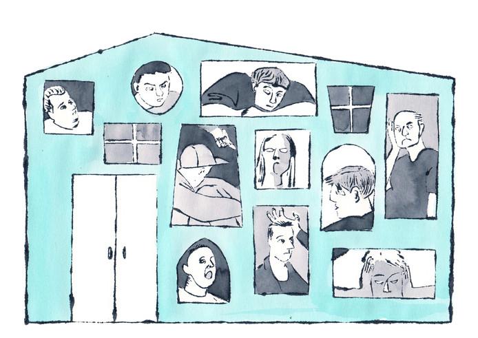 Illustratie voor De Gelderlander bij voorhaal tbs-kliniek