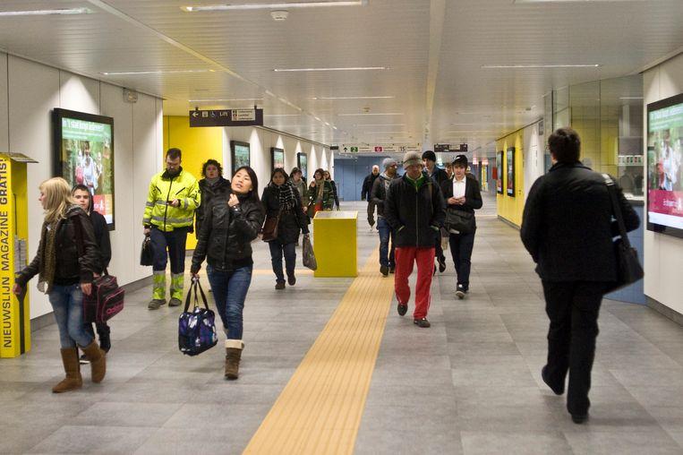 Het incident deed zich voor in premetrostation Diamant onder het Centraal Station in Antwerpen (illustratiebeeld).