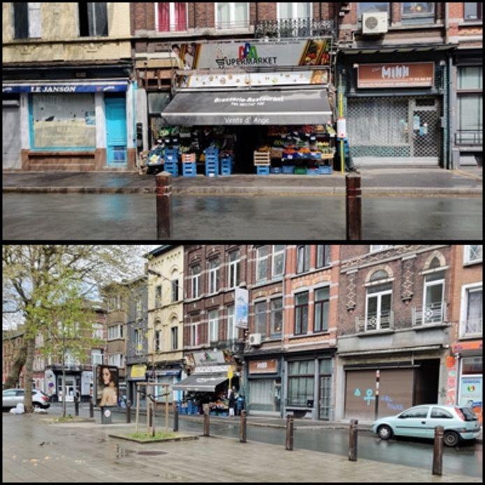 Le lieu exact où la victime a été poignardée au Boulevard Janson à Charleroi