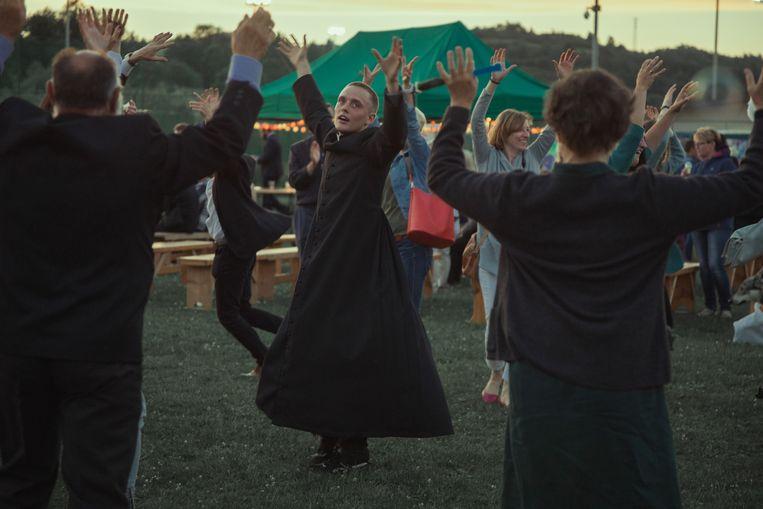 Bartosz Bielenia in de Poolse film 'Corpus Christi', die genomineerd is voor een Oscar.  Beeld -