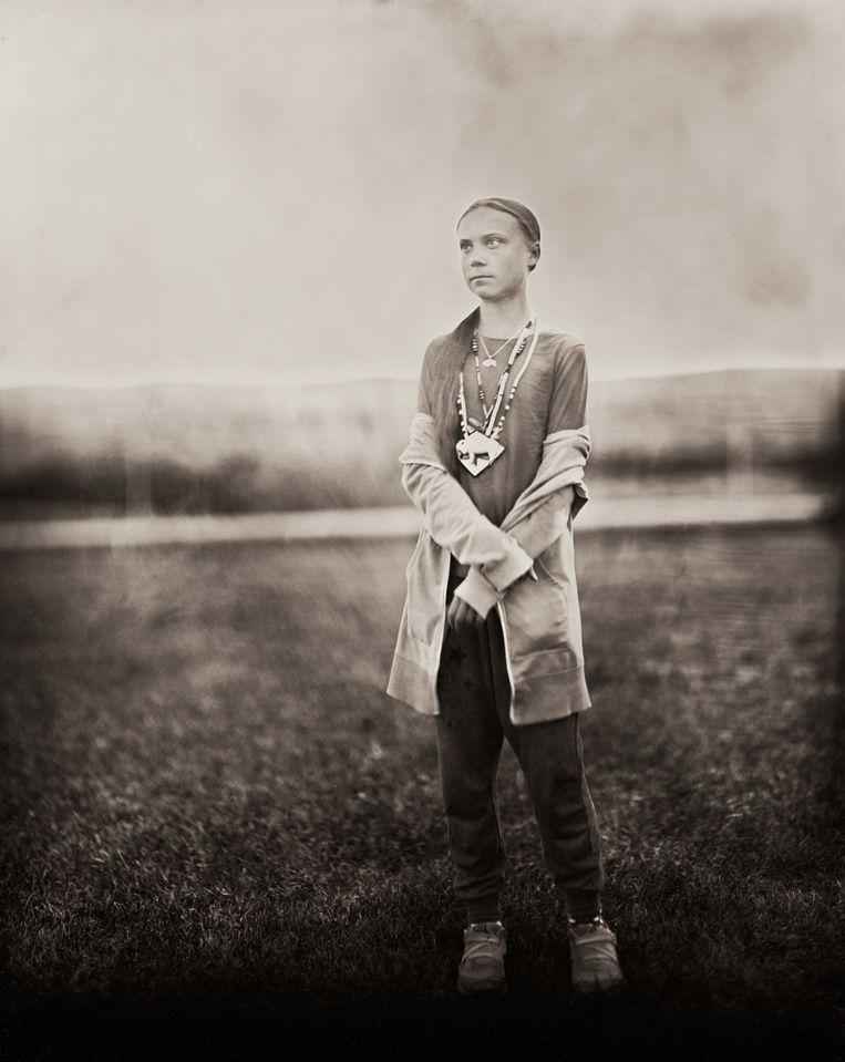 Shane Balkowitsch maakte deze iconische foto. 'Je kunt niet om haar aanwezigheid heen.' Beeld Shane Balkowitsch