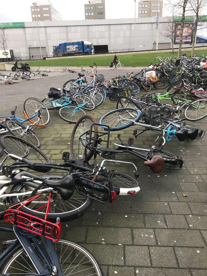 Weinig fietsen bleven op het standaard staan