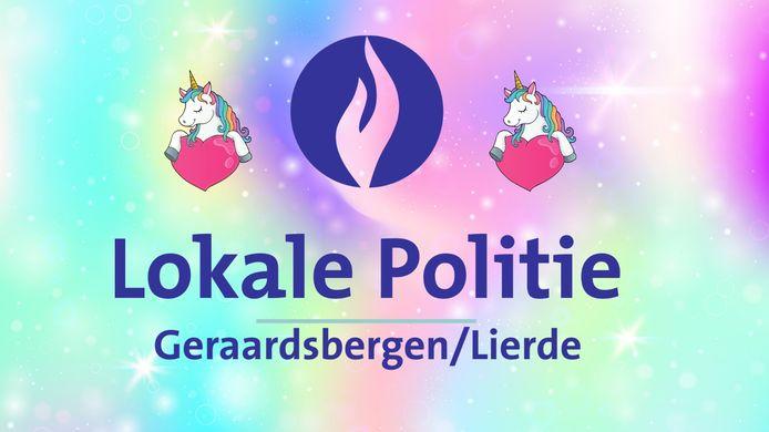 Ook de politie Geraardsbergen doet mee.