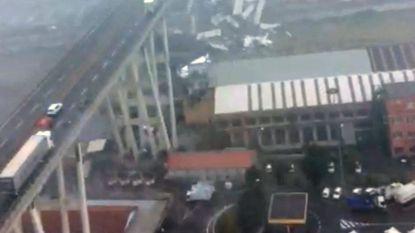 Helikopterbeelden tonen ravage Genua