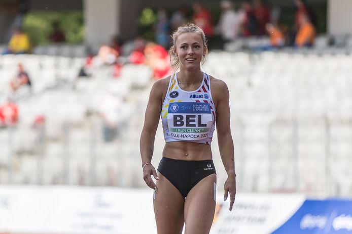 Rani Rosius op de European Team Championships in Roemenië zondag.
