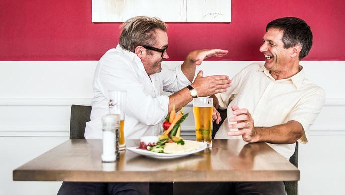 Acteur George van Houts en hoogleraar Arnoud Boot kruisen de degens over de bankensector.