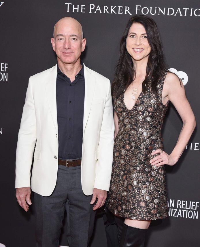 Jeff Bezos en MacKenzie Scott toen ze nog samen waren.