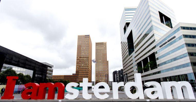 De zuidas in Amsterdam. Beeld anp