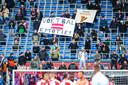 Fans van Feyenoord bij de thuiswedstrijd tegen ADO Den Haag op 27 september 2020.