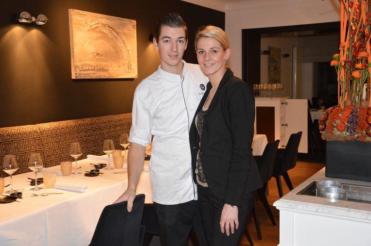Archieffoto van Kevin Graf en Barbara Wantens in hun restaurant De Bakermat.