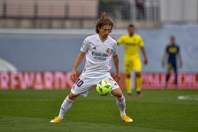 Luka Modric zaterdagavond tegen Villarreal.