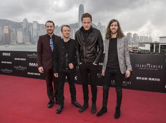 Daniel Platzman, Ben McKee, Dan Reynolds and D. Wayne Sermon van Imagine Dragons.