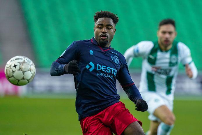 Che Nunnely in de uitwedstrijd tegen FC Groningen.