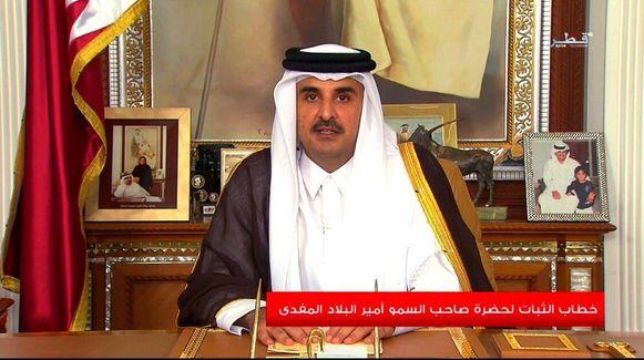 De Qatarese sjeik Tamim bin Hamad.