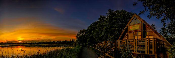 Zonsondergang in het Lokerse natuurreservaat het Molsbroek.