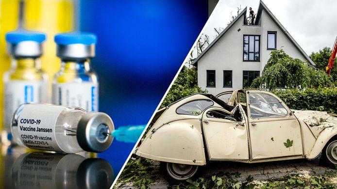 Run op Janssen-vaccin en oude eend is onbedoeld symbool van storm in Leersum