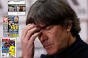Duits bondscoach Joachim Löw moet het ontgelden na de wanprestatie tegen Spanje.