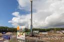 Bouwwerkzaamheden bij de Wilhelminahaven.