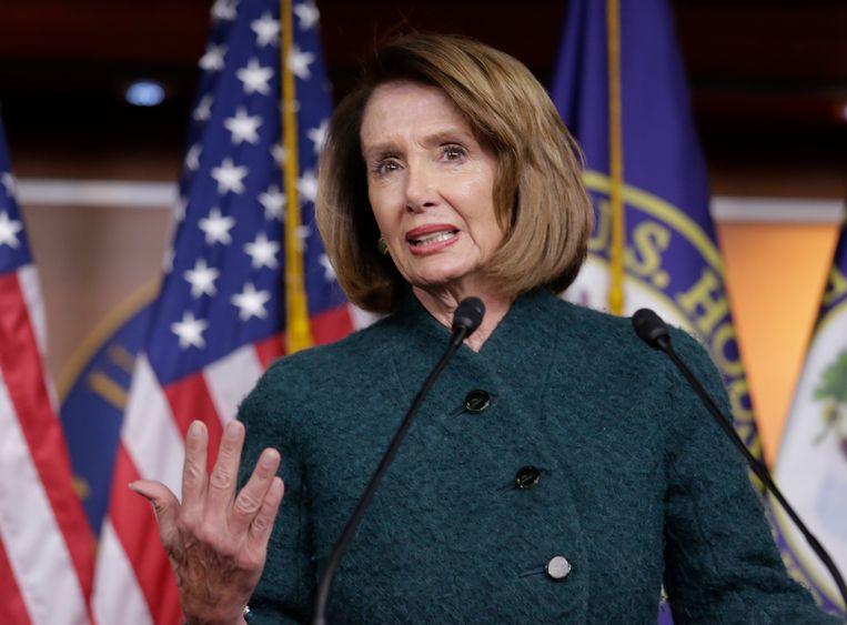 De Democratische voorzitter van het Huis van Afgevaardigden Nancy Pelosi. Beeld AP