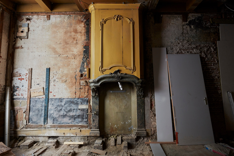 Het gestripte Pieter Teylers Huis. De neoclassicistische stijl was indertijd een anti-orangistisch statement.  Beeld Studio Johan Nieuwenhuize
