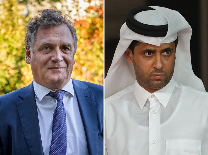 Jerome Valcke et Nasser Al-Khelaifi.