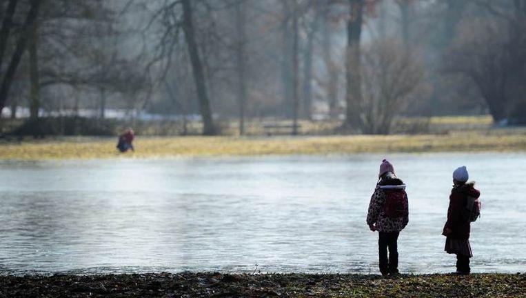 Ook in Duitsland staat het water hoog. Beeld afp