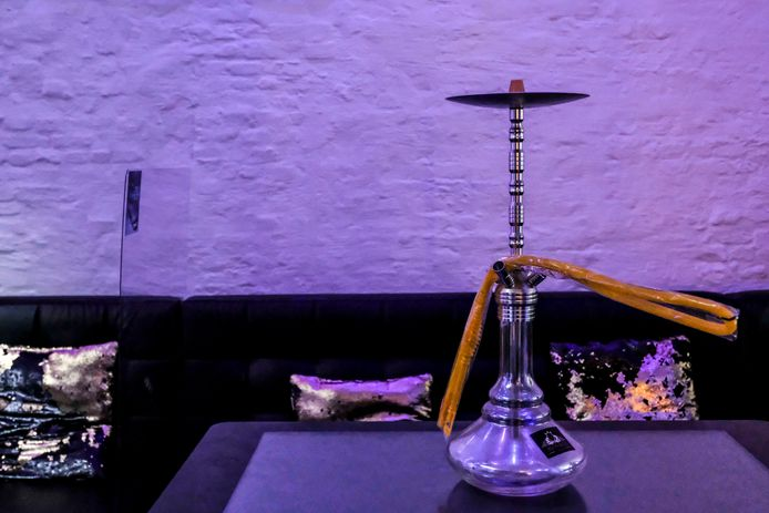 Illustration picture shows a hookah at a shisha bar in Antwerp, Friday 24 July 2020. The Covid-19 contamination numbers are rising again in Belgium. The National Security Council has announced more strict coronavirus measures as from tomorrow, in an attempt to try and keep the contamonation level low. One of those measures states that it is forbidden to smoke shisha as from tomorrow, Saturday 25 July. BELGA PHOTO DIRK WAEM