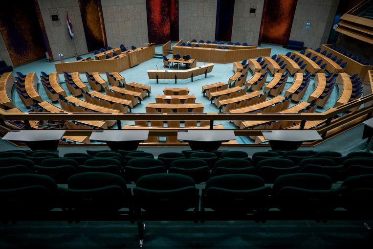 De plenaire zaal van de Tweede Kamer. Beeld Freek van den Bergh / Volkskrant