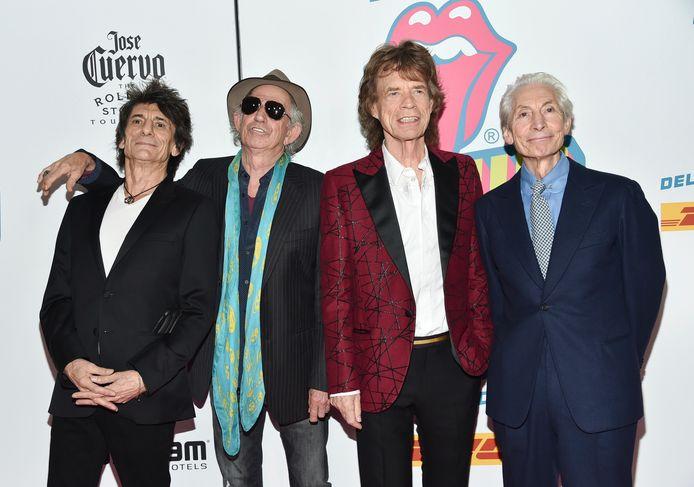 Ronnie Wood, Keith Richards, Mick Jagger et Charlie Watts, en 2016