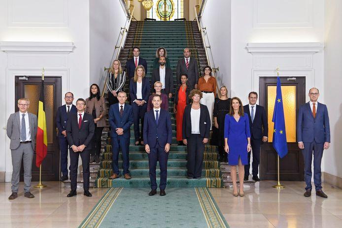 De federale regering met premier Alexander De Croo