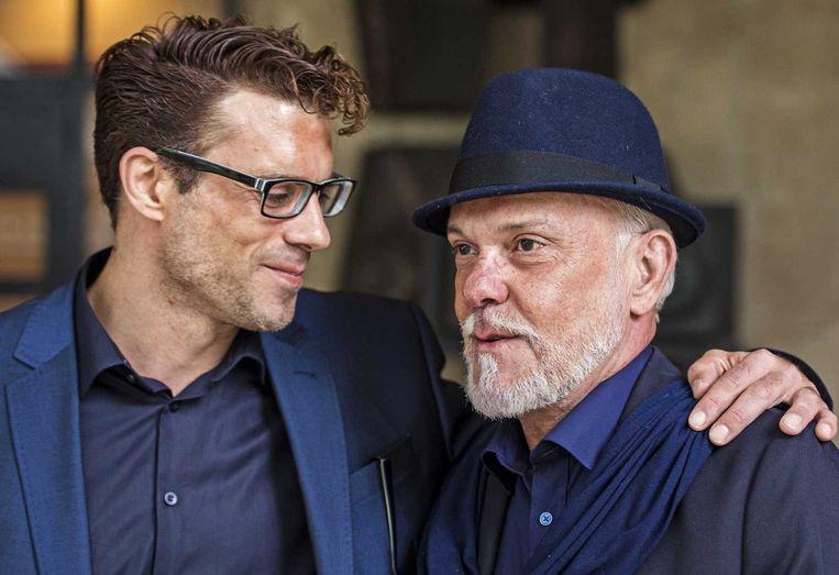 Martien Hunnik (rechts) met zijn partner. Beeld anp