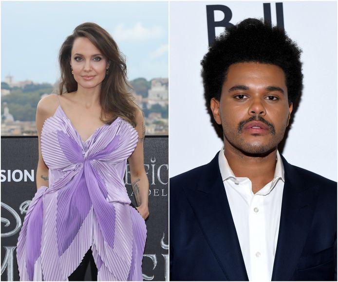 Angelina Jolie en The Weeknd.